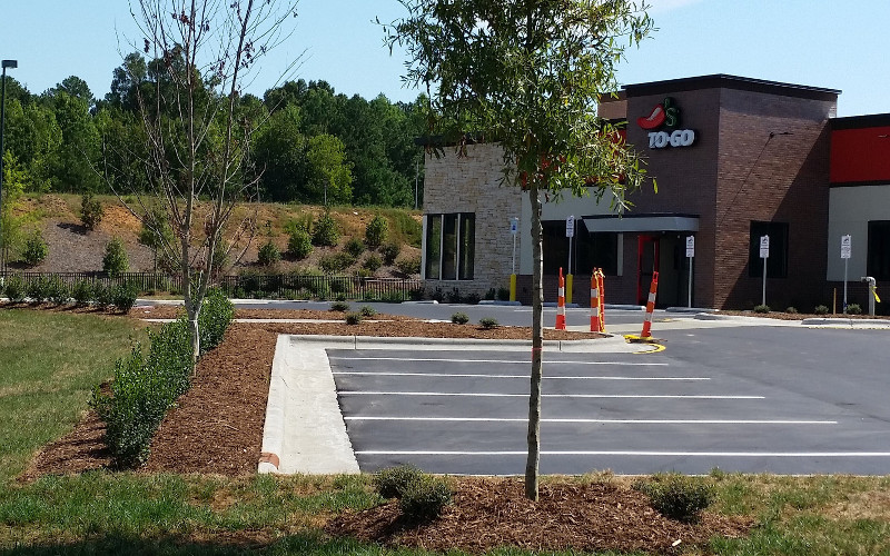Chili's Commercial Landscaping Raleigh
